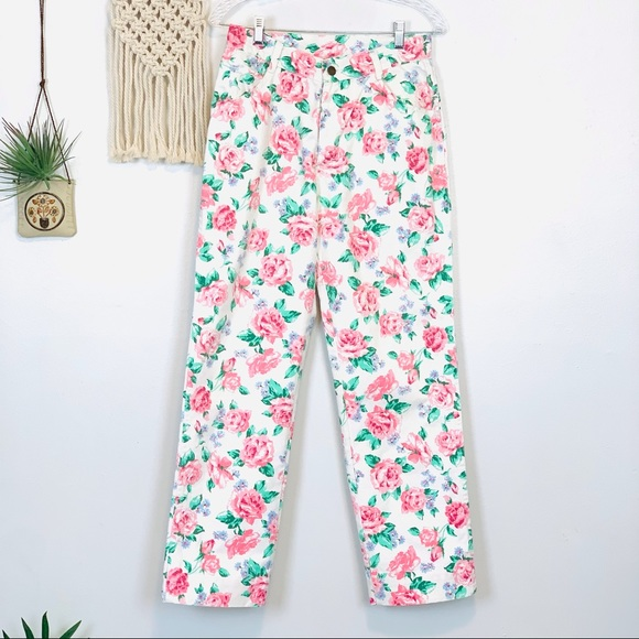 Vintage | Yes Floral High Rise Jeans